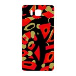 Red artistic design Samsung Galaxy Alpha Hardshell Back Case Front