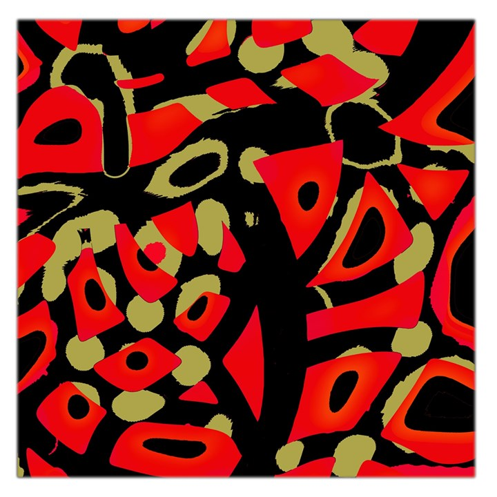 Red artistic design Large Satin Scarf (Square)