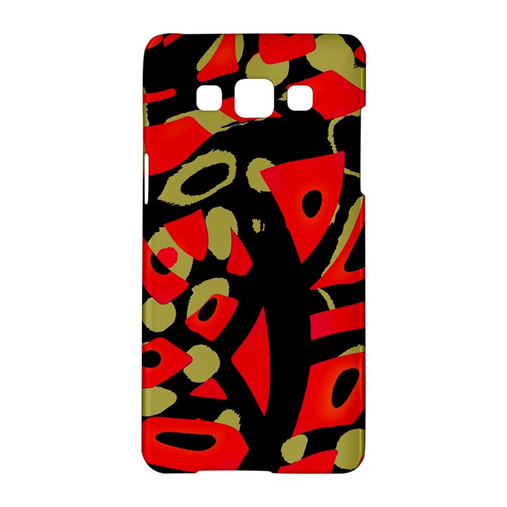 Red artistic design Samsung Galaxy A5 Hardshell Case