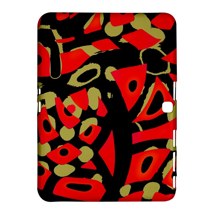 Red artistic design Samsung Galaxy Tab 4 (10.1 ) Hardshell Case