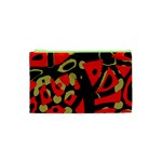 Red artistic design Cosmetic Bag (XS) Front