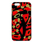 Red artistic design iPhone 6/6S TPU Case Front