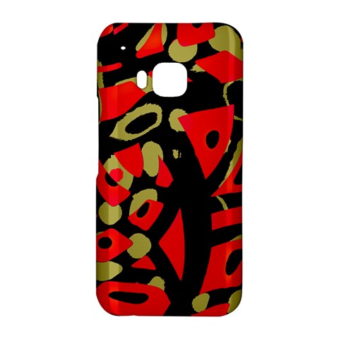 Red artistic design HTC One M9 Hardshell Case