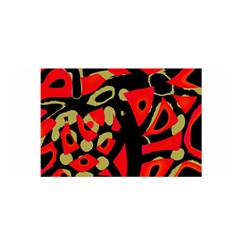 Red artistic design Satin Wrap