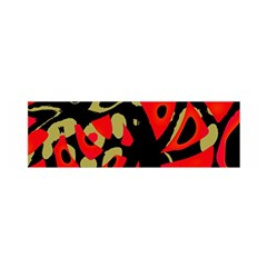Red Artistic Design Satin Scarf (oblong)
