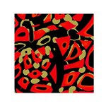 Red artistic design Small Satin Scarf (Square) Front