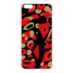 Red artistic design Apple Seamless iPhone 6 Plus/6S Plus Case (Transparent)