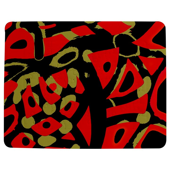Red artistic design Jigsaw Puzzle Photo Stand (Rectangular)
