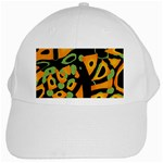 Abstract animal print White Cap Front