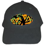 Abstract animal print Black Cap Front