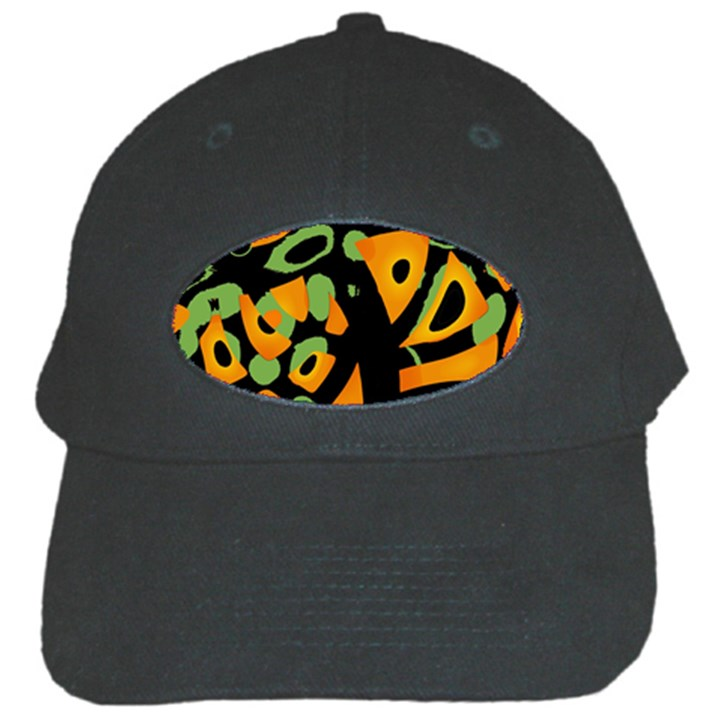 Abstract animal print Black Cap