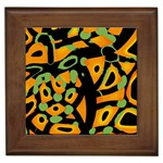 Abstract animal print Framed Tiles Front