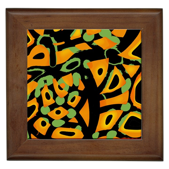 Abstract animal print Framed Tiles