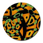 Abstract animal print Round Mousepads Front
