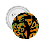 Abstract animal print 2.25  Buttons Front