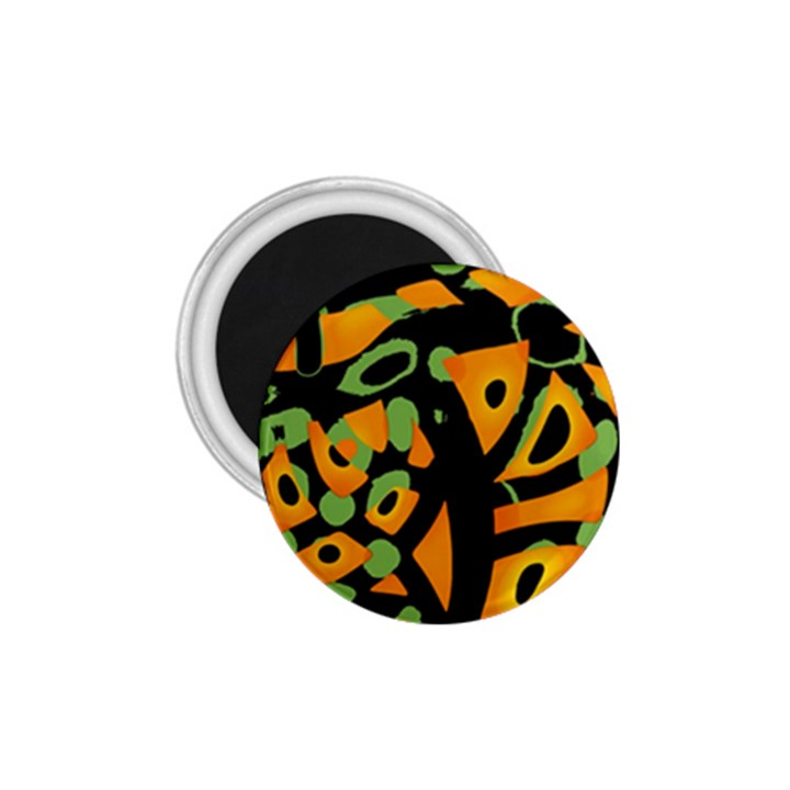 Abstract animal print 1.75  Magnets