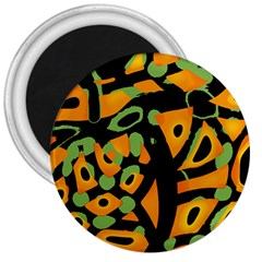 Abstract animal print 3  Magnets