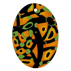 Abstract animal print Ornament (Oval)