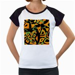 Abstract animal print Women s Cap Sleeve T Front