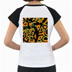 Abstract animal print Women s Cap Sleeve T Back
