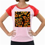 Abstract animal print Women s Cap Sleeve T-Shirt Front