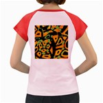 Abstract animal print Women s Cap Sleeve T-Shirt Back