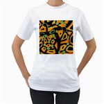 Abstract animal print Women s T-Shirt (White) (Two Sided) Front