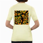 Abstract animal print Women s Yellow T-Shirt Back