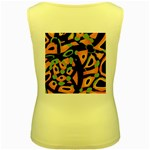 Abstract animal print Women s Yellow Tank Top Back