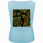 Abstract animal print Women s Baby Blue Tank Top Back