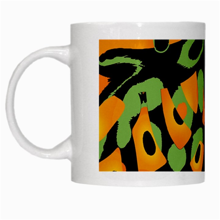 Abstract animal print White Mugs