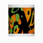 Abstract animal print White Mugs Center