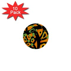 Abstract Animal Print 1  Mini Buttons (10 Pack)