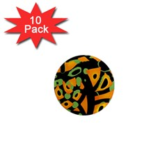 Abstract Animal Print 1  Mini Magnet (10 Pack)