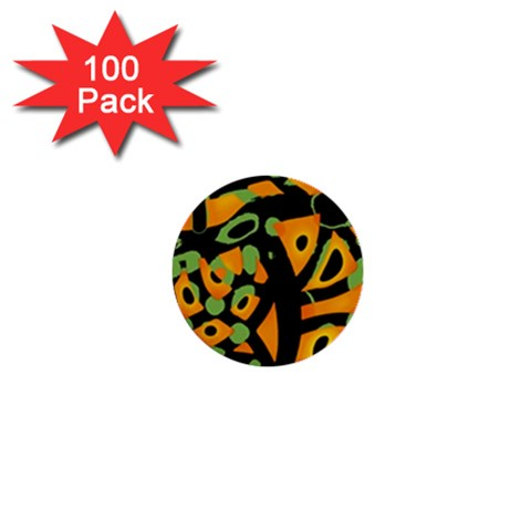 Abstract animal print 1  Mini Buttons (100 pack)