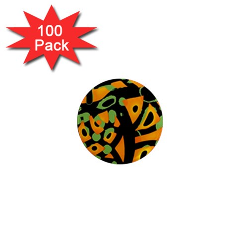 Abstract animal print 1  Mini Magnets (100 pack)