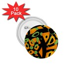 Abstract animal print 1.75  Buttons (10 pack) Front