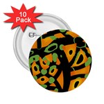 Abstract animal print 2.25  Buttons (10 pack)  Front
