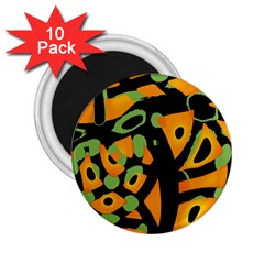 Abstract Animal Print 2 25  Magnets (10 Pack)
