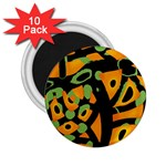 Abstract animal print 2.25  Magnets (10 pack)  Front