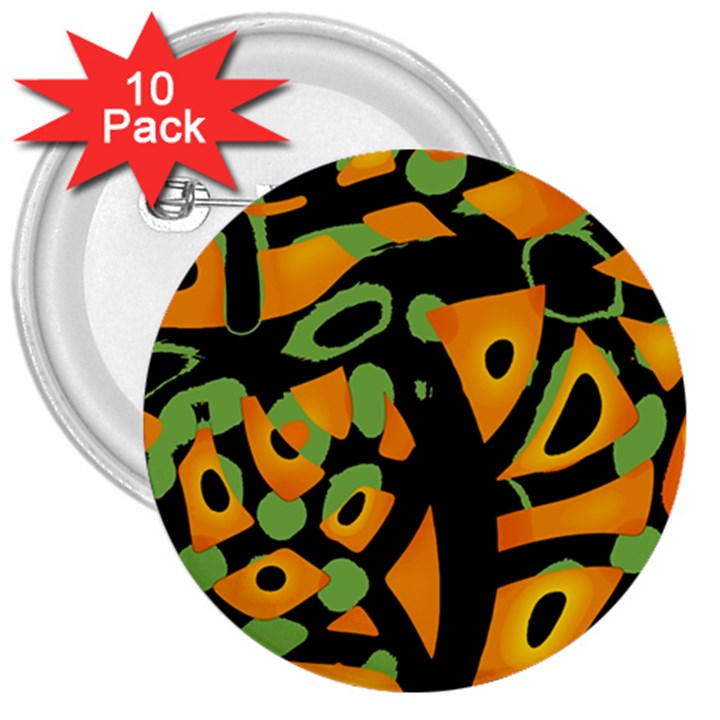 Abstract animal print 3  Buttons (10 pack)