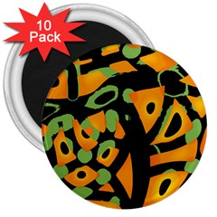 Abstract animal print 3  Magnets (10 pack)
