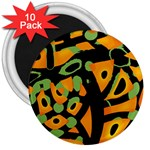Abstract animal print 3  Magnets (10 pack)  Front