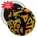 Abstract animal print 3  Magnets (100 pack) Front