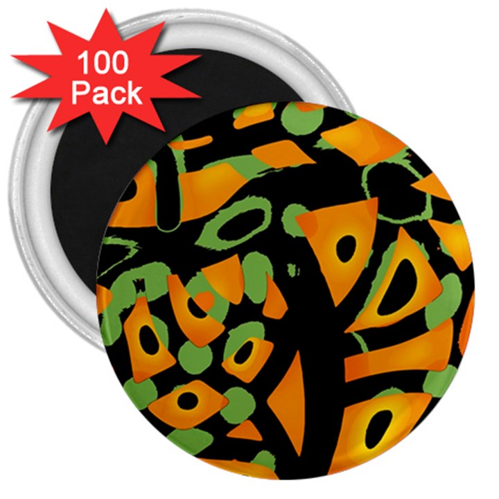 Abstract animal print 3  Magnets (100 pack)