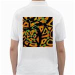 Abstract animal print Golf Shirts Back