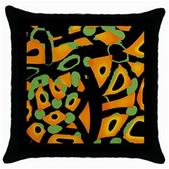 Abstract animal print Throw Pillow Case (Black)
