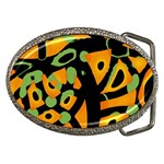Abstract animal print Belt Buckles Front