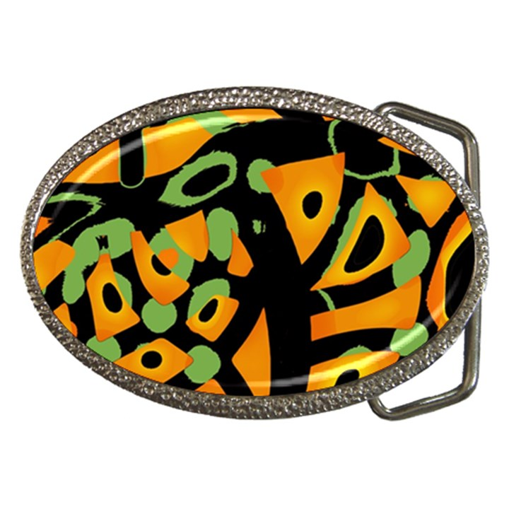 Abstract animal print Belt Buckles