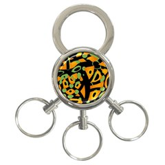 Abstract animal print 3-Ring Key Chains